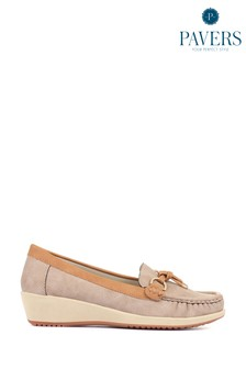 Pavers Ladies Natural Moccasin Loafers
