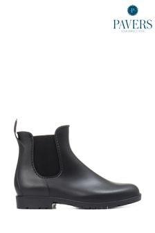 Pavers Ladies Black Ankle Wellington Boots