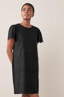 Short Sleeve Broderie Dress