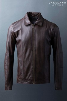 Lakeland Leather Rothay Collared Brown Leather Jacket