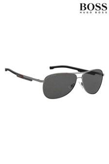 BOSS Silver/Grey Sailing Pilot Sunglasses