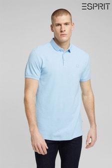 Esprit Sky Blue Organic Cotton Polo Shirt