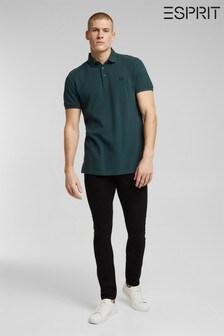 Esprit Teal Organic Cotton Polo Shirt