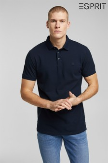 Esprit Blue Organic Cotton Polo Shirt