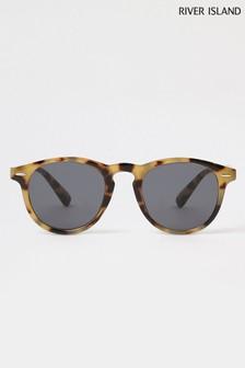 River Island Brown Tortoiseshell Effect Classic Round Style Sunglasses