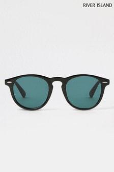 River Island Black Classic Round Style Sunglasses