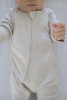 Purebaby Rib Growsuit