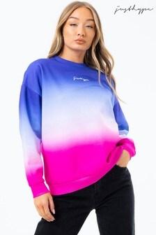 Hype. Ice Fade Damen Oversize-Sweatshirt mit Rundhalsausschnitt
