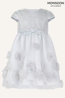 Monsoon Sequin Rose Dress