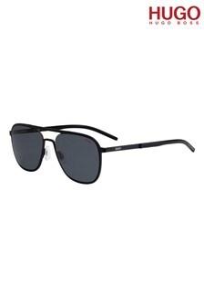 HUGO Black Pilot Sunglasses