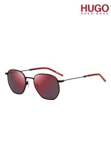 HUGO Round Red Lens Sunglasses
