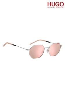 HUGO Pink Hexagonal Sunglasses