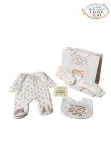 Guess How Much I Love You White 6 Piece Babygrow And Book Set