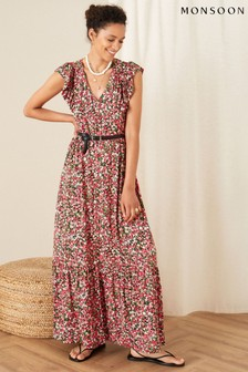 Monsoon Fable Floral Jersey Maxi Dress