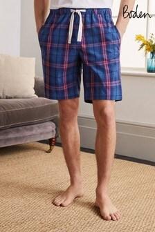 Boden藍色棉質府綢睡褲