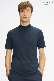 Ted Baker Blue Kushon Ss Fine Gauge Cycle Top