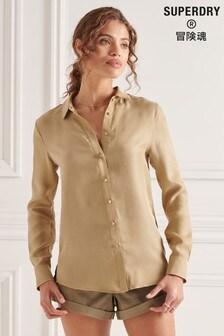 חולצהבצבעגוףעםשרוול ארוךדגםStudios של Superdry