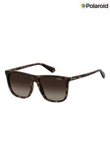 Polaroid Rectangular Brown Polarised Lens Sunglasses