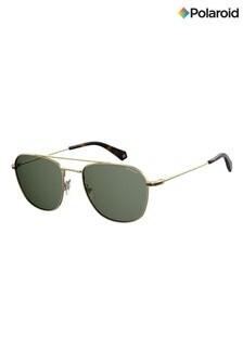 Polaroid Gold/Green Polarised Lens Sunglasses