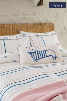 Joules Pink Coastal Dogs Cushion