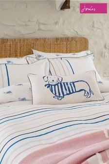 Set of 2 Joules White Coastal Stripe Pillowcases