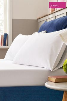 Joules White Plain Fitted Sheet