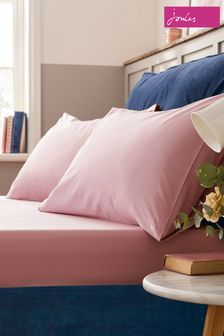 Joules Pink Plain Fitted Sheet