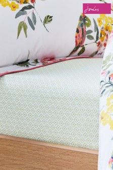 Joules White Kelmarsh Floral Fitted Sheet