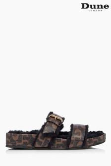 Тапочки с двумя ремешками Dune London Waverly Furry