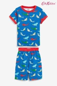 פיג'מת קיץ מג'רזי לילדים עם כרישים של Cath Kidston