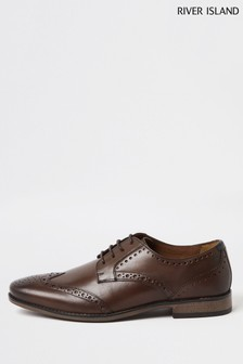 River Island Brown Classic Leather Brogues