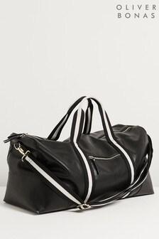 Черная сумка с леопардовым принтом Oliver Bonas Hattie