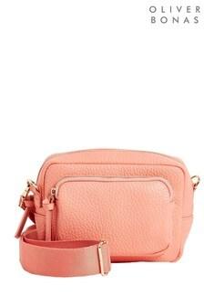 Розовая сумка для фотоаппарата с длинным ремешком и карманом Oliver Bonas Knox