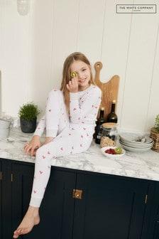 The White Company Heart Print Pyjamas