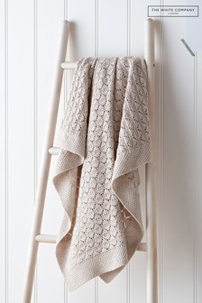 The White Company Natural Heirloom Natural Blanket