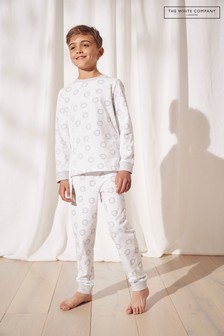 The White Company Grey Lion Print Pyjamas