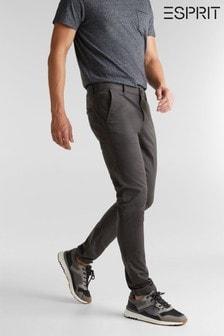 Esprit Mens Grey Regular Woven Chino Pants