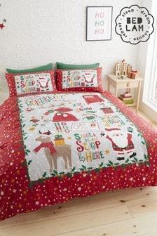 Bedlam Santa Stop Here Duvet Cover And Pillowcase Set (M57919) | $18 - $26