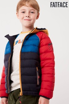 FatFace Blue Harry Colour Block Jacket