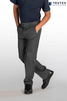 Trutex Grey Slim Fit School Trousers