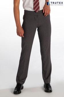 Trutex Harrow Grey Girls Twin Pocket School Trouser