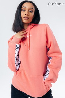 Hype. Pink Dalmatian Panel Hoodie