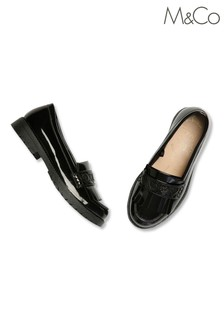M&Co Black Patent Loafers