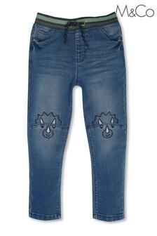 M&Co 藍色鬆緊牛仔褲