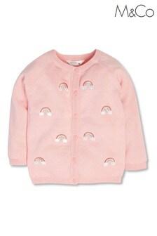 M&Co Pink Rainbow Cardigan