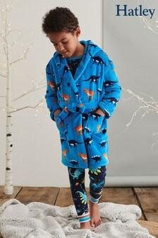 Hatley Blue Sleepy Dinos Fleece Robe