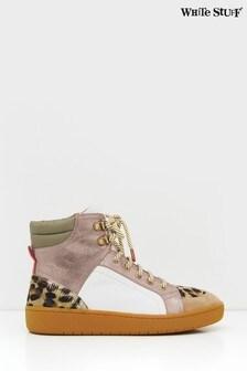حذاء رياضي جلد بني فاتح بقبة مرتفعة Hattie من White Stuff