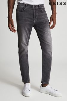 Reiss Harbour Jersey Stretch Tapered Slim Fit Jeans