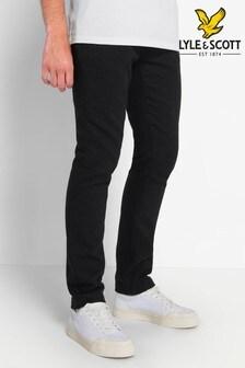 Lyle & Scott Black Wool Blend Trousers