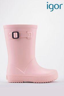 Igor Pale Pink Splash Euri Wellies